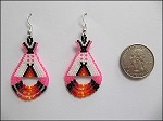 Beaded Teepee Earrings - 3713
