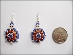 Beaded Turtle w/ Hump Earrings - 3715