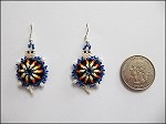 Beaded Turtle w/ Hump Earrings - 3717