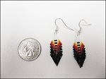 Beaded Feather Earrings (Large) - 3646
